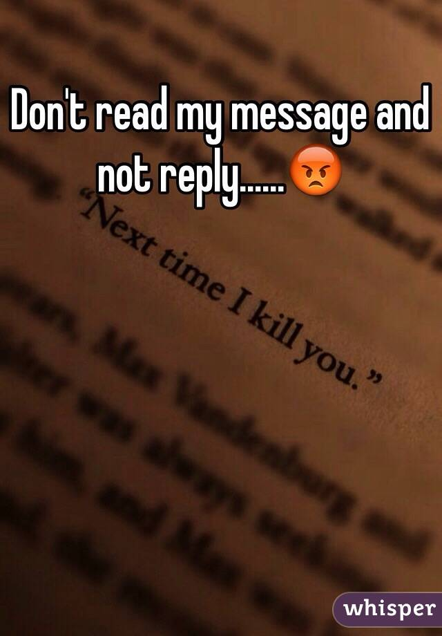 reply my message