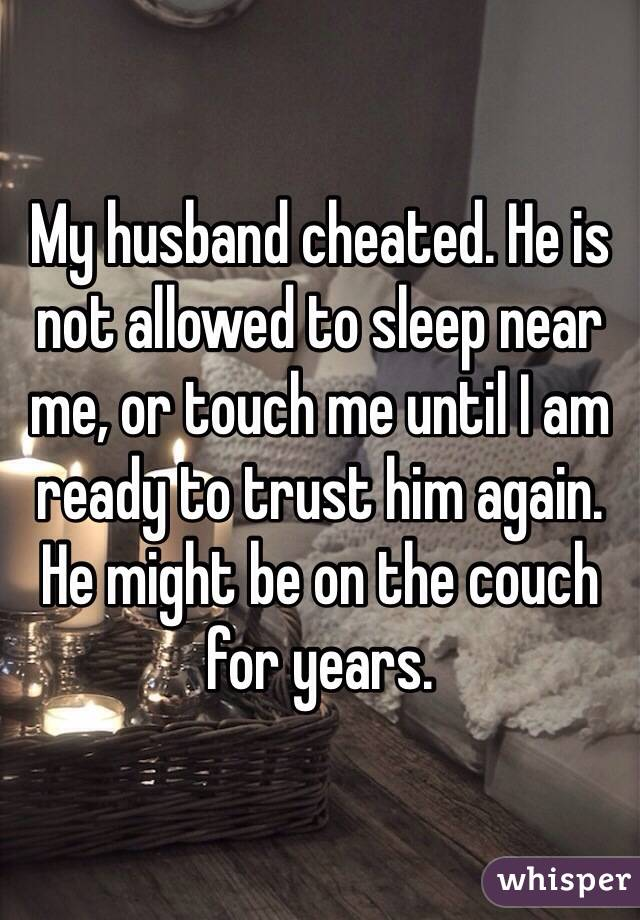 how to trust him again after cheating