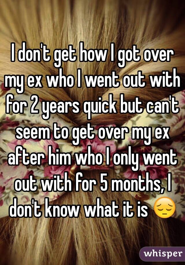 Get over my ex