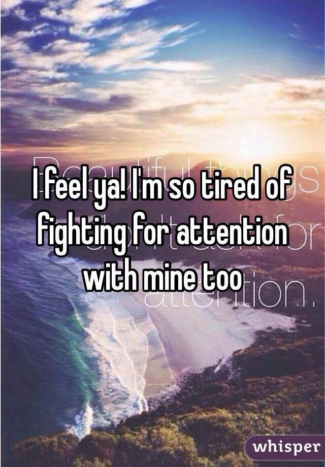I Feel Ya I'm So Tired Of Fighting For Attention With Mine Too Gorgeous Fighting For Attention Images