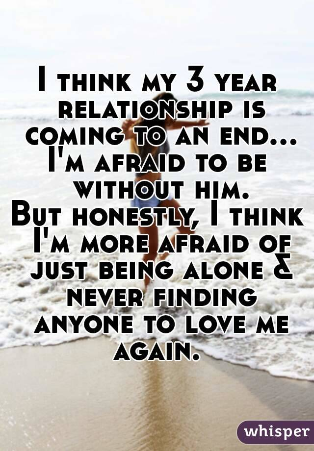 ending a three year relationship