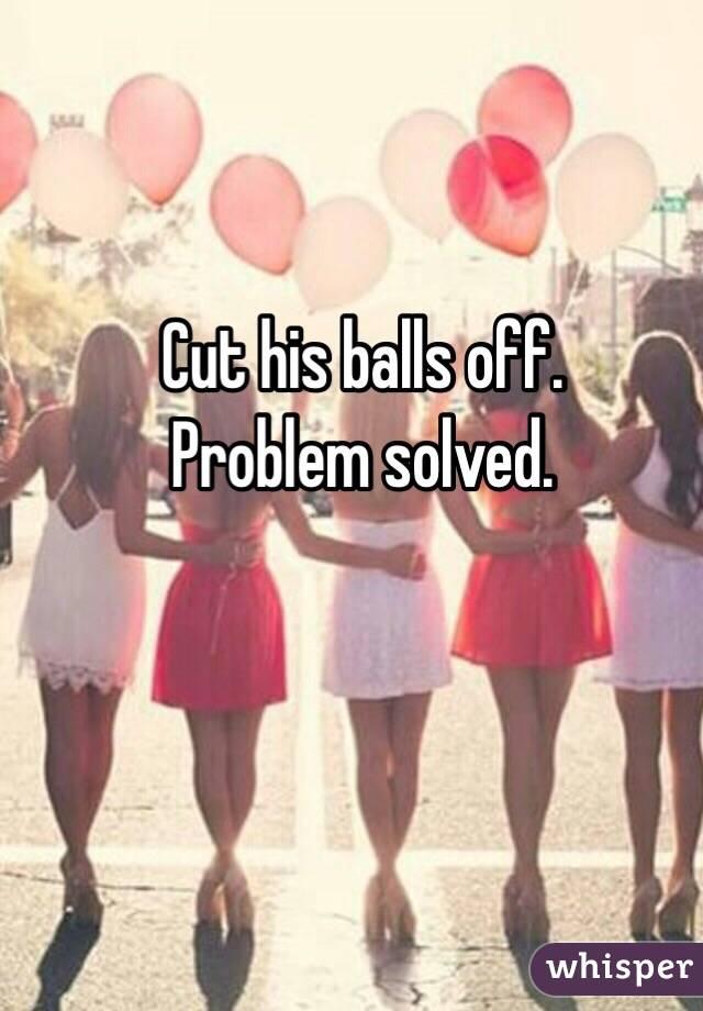 Cut off balls by girls foto 625
