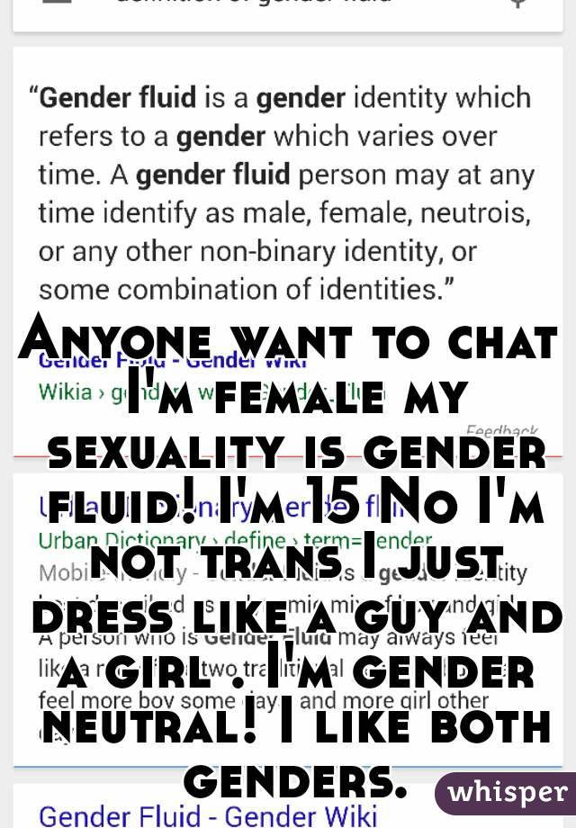 Trans fluid sexuality
