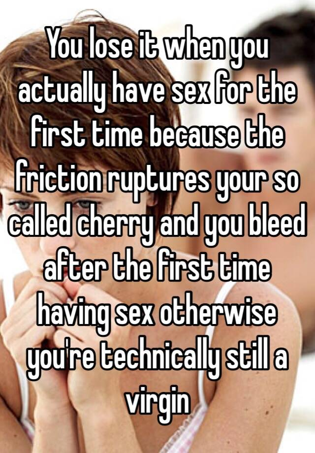 What happens when you have sex for the first time