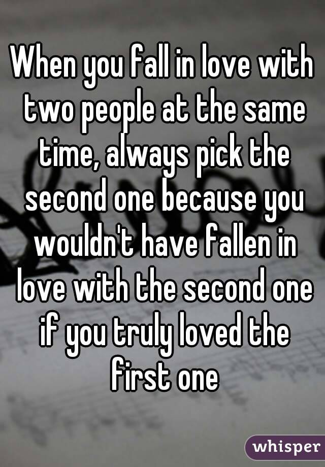 how do two people fall in love