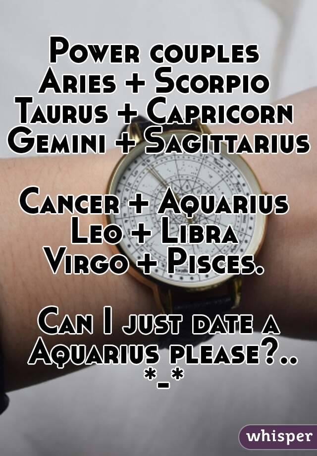 Aquarius and leo dating scorpio
