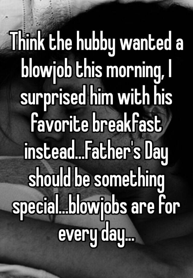 Breakfast blowjob