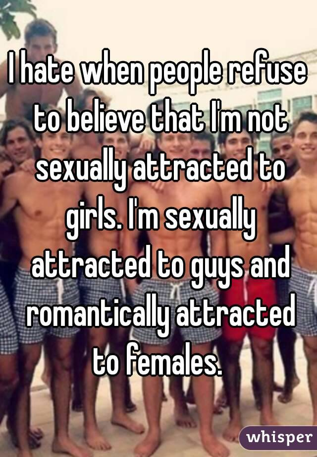 Attracted to a girl but not sexually
