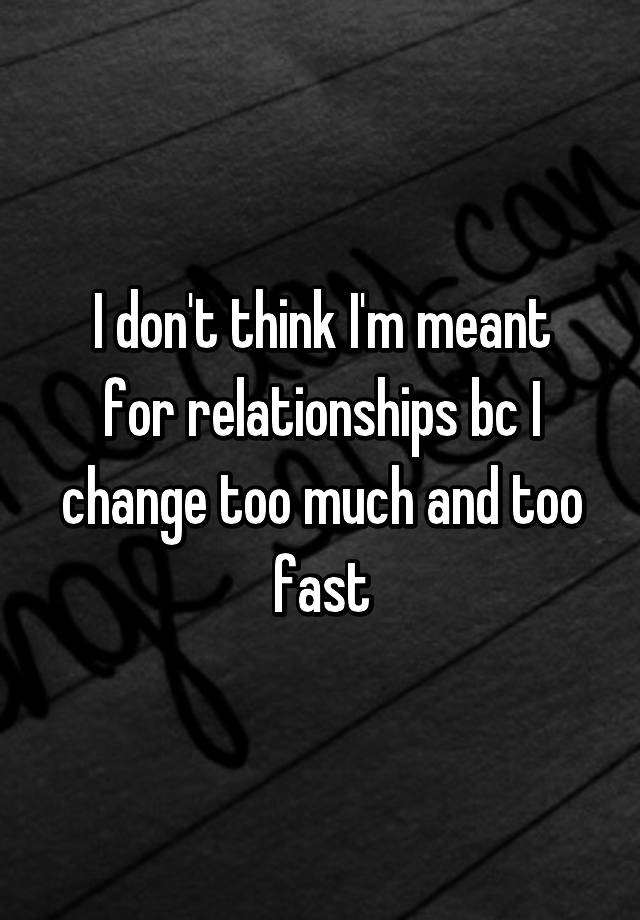 too much fast relationship