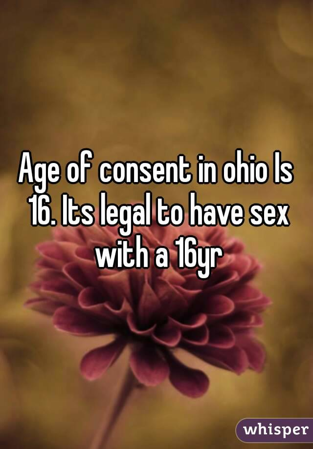 legal age limit for dating in ohio