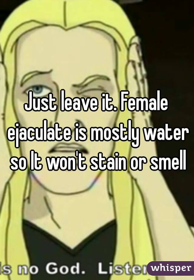 does female ejaculation smell