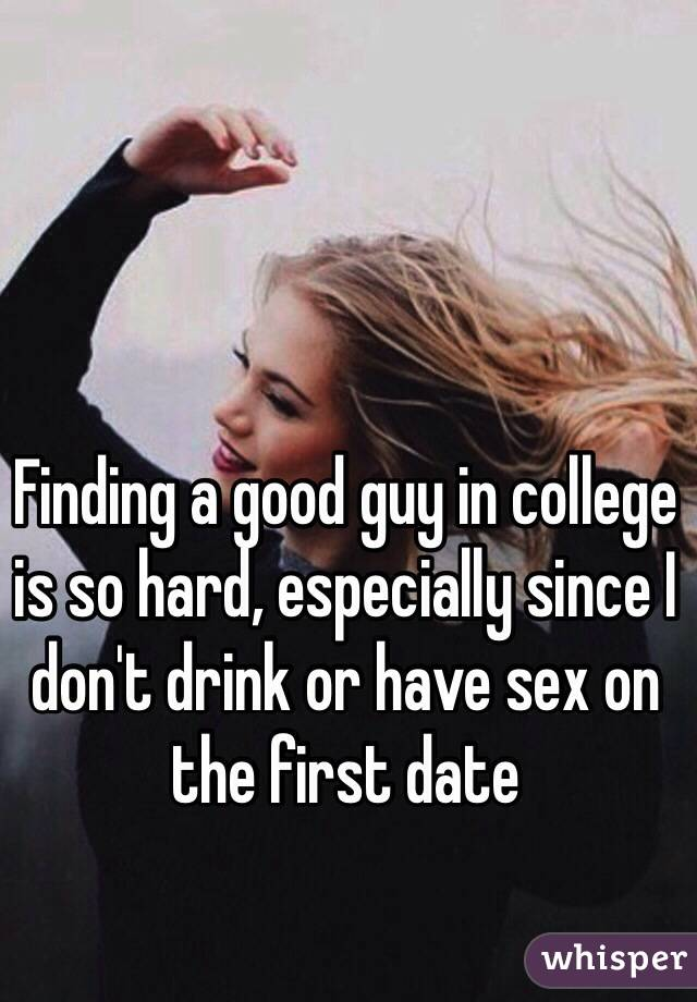 How to meet good guys in college