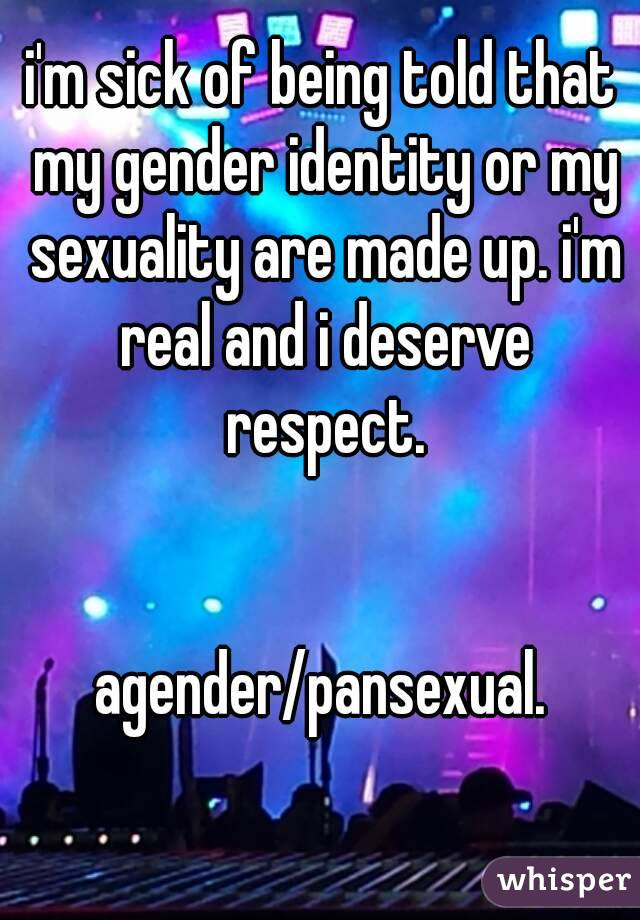 Is agender real