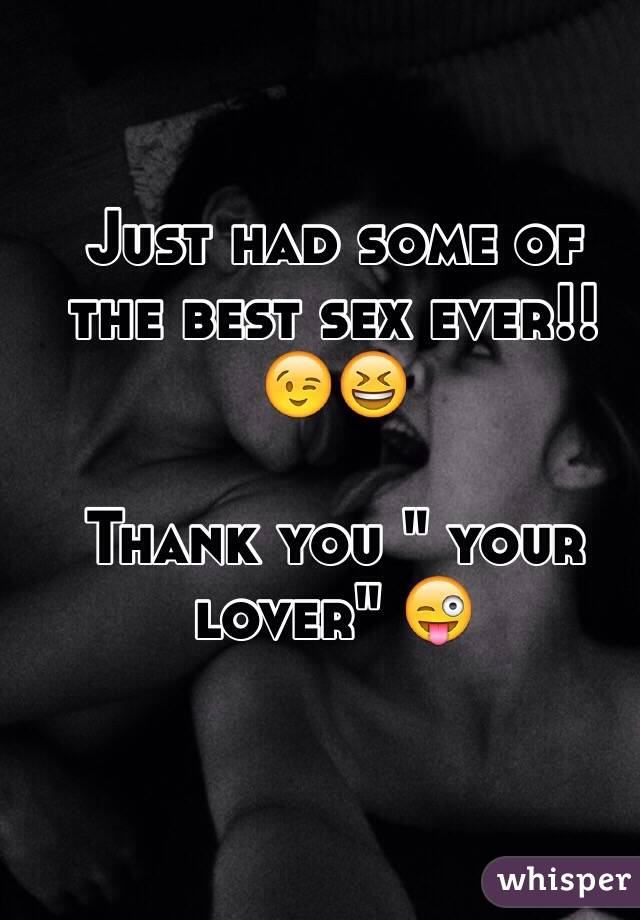 Thank you for sex
