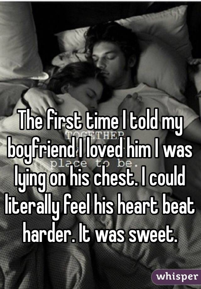 First time romance with boyfriend