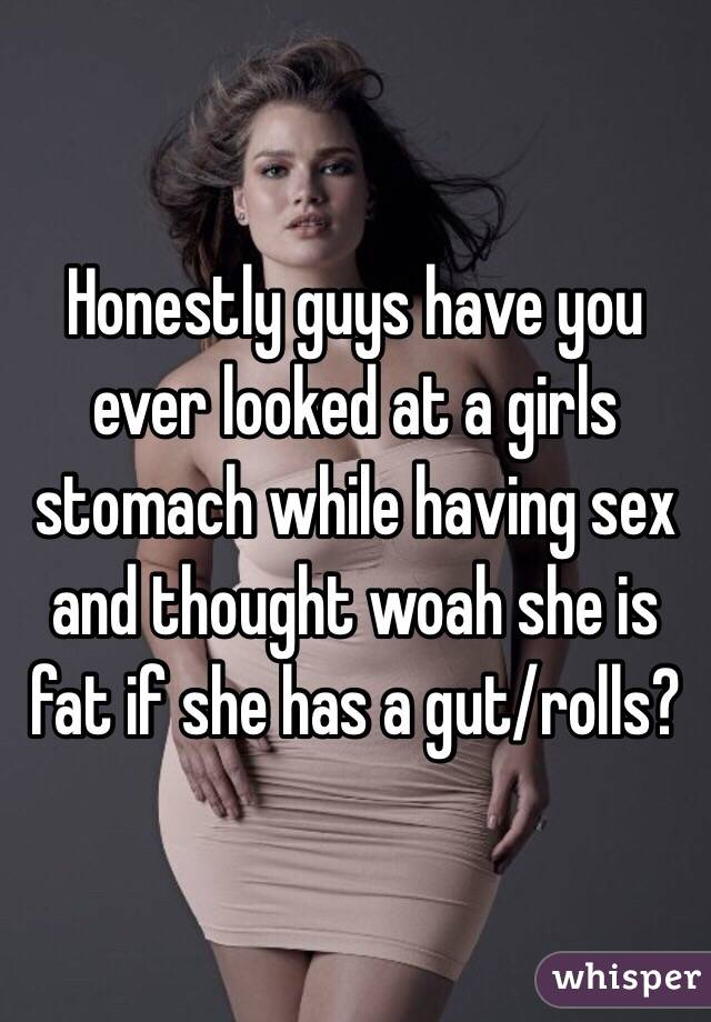 Girls having sex with a gut