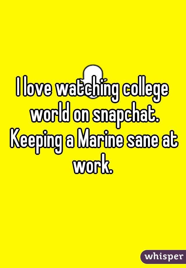 Marine snapchat