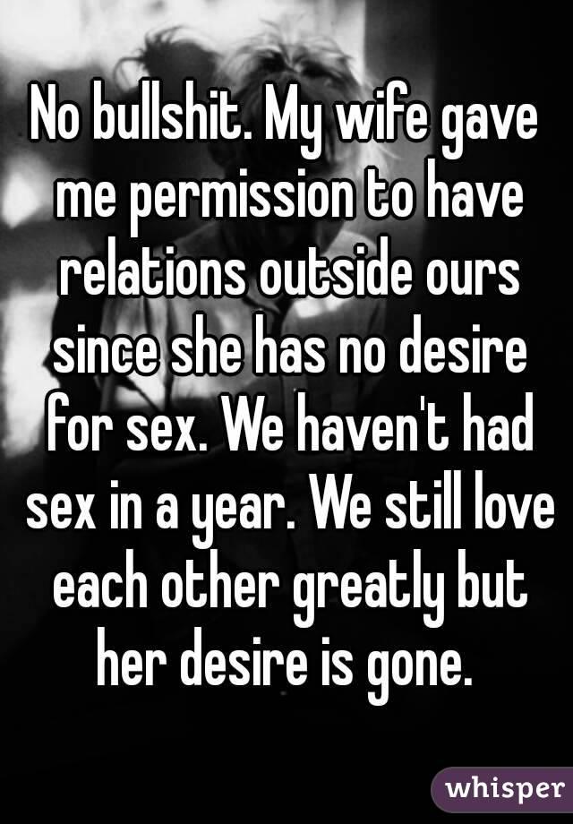No bullshit sex