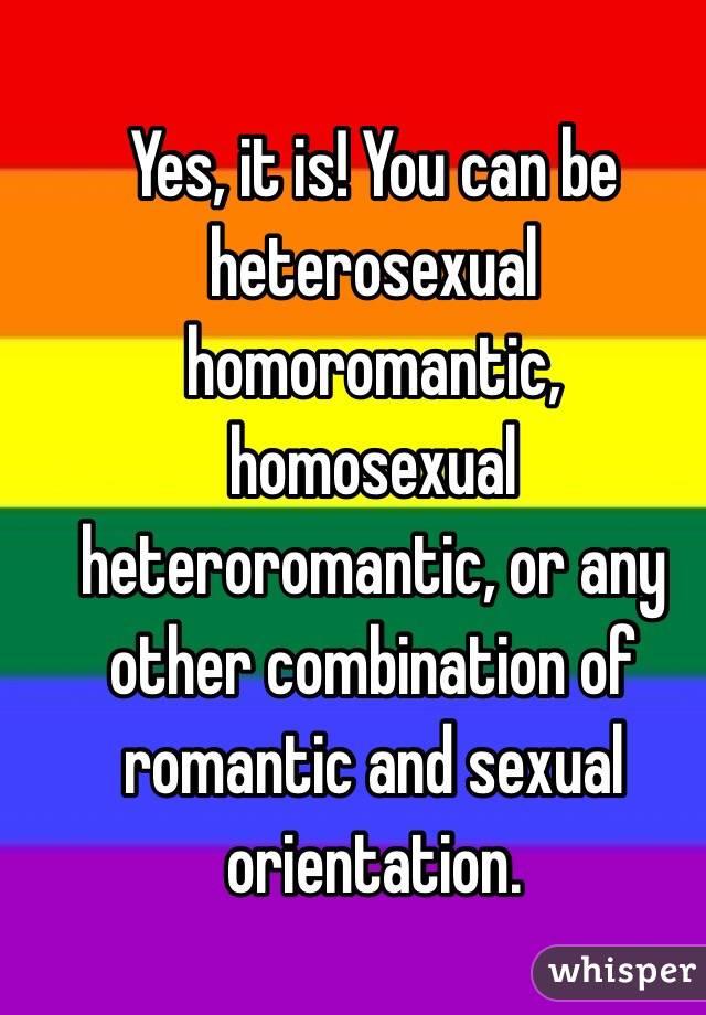 Homoromantic vs homosexual relationships