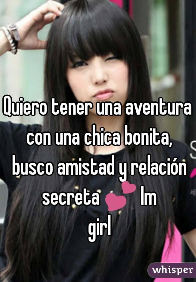 busco una chica