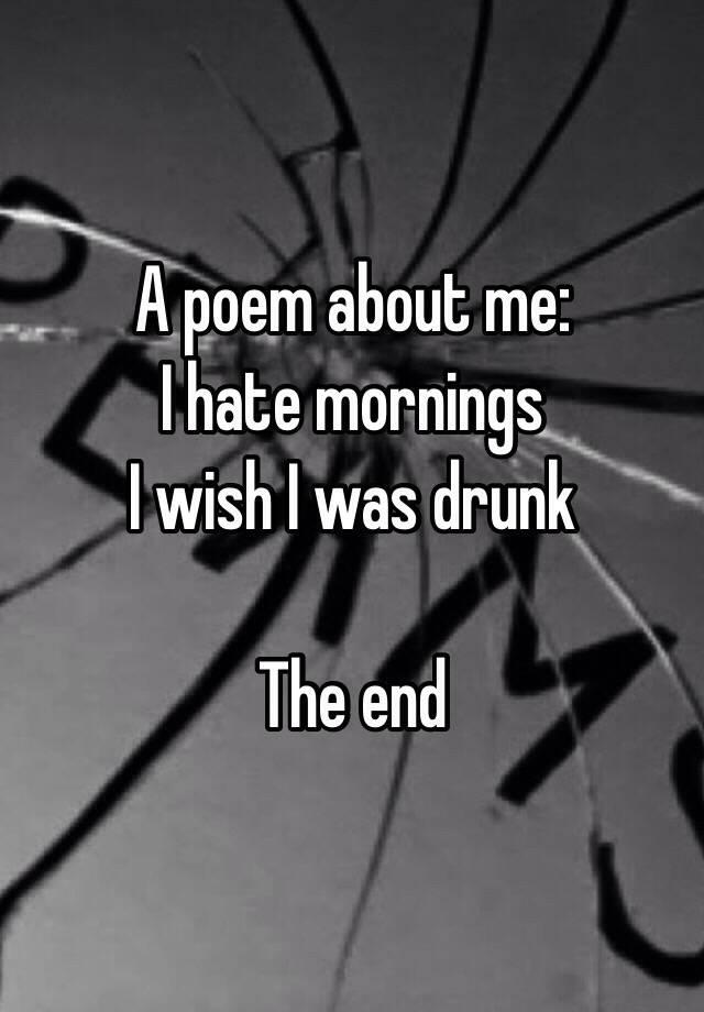 get drunk poem
