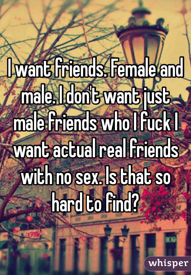 female want male friend