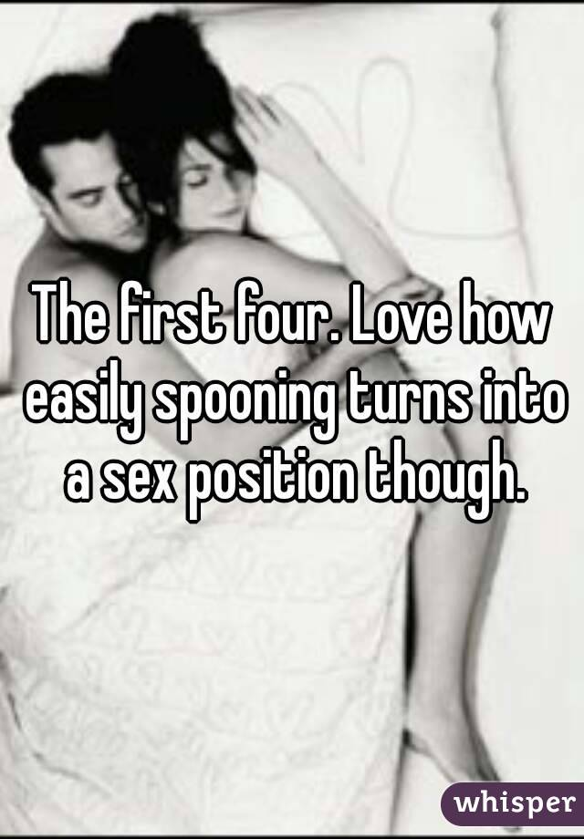 Spooning turns to sex