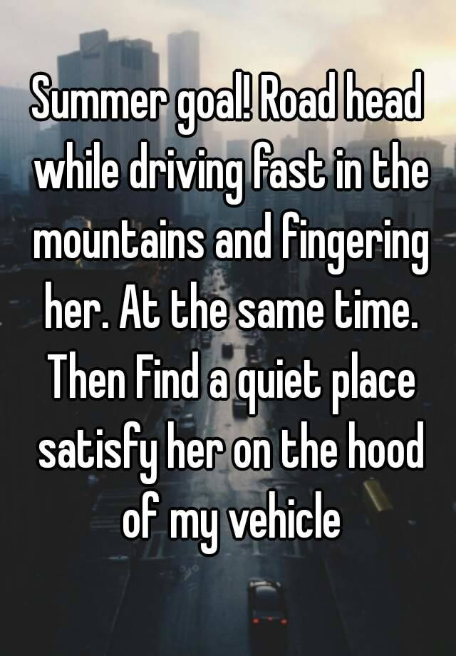 Handjob Car While Driving