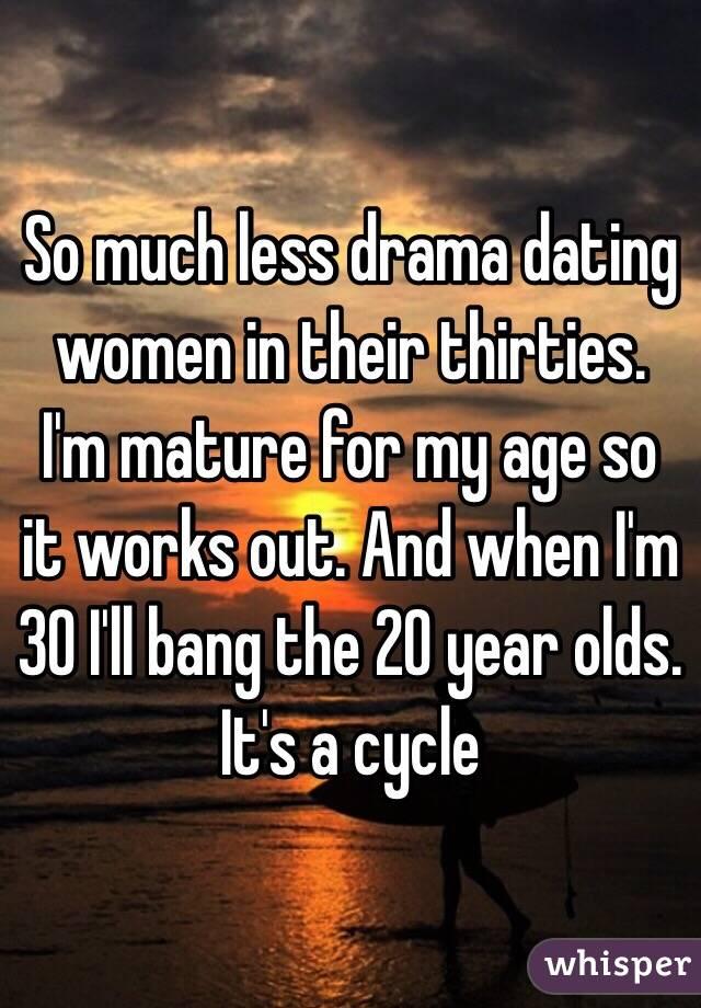 dating someone less mature