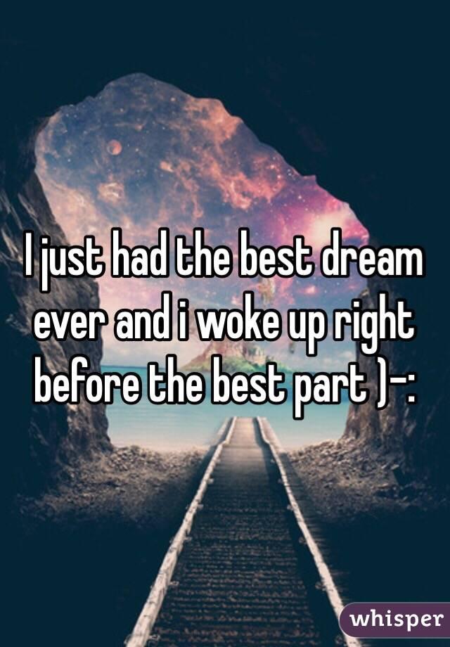 best dream ever
