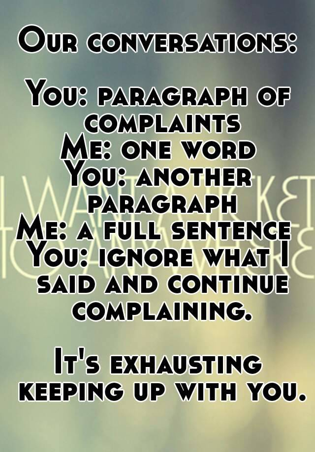 another word for complaints