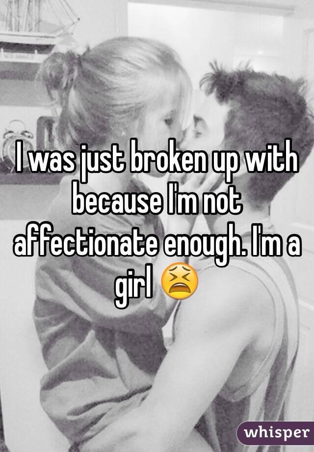 girlfriend not affectionate
