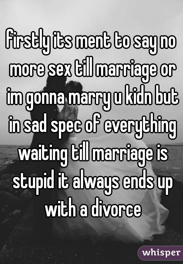 No more sex in marriage