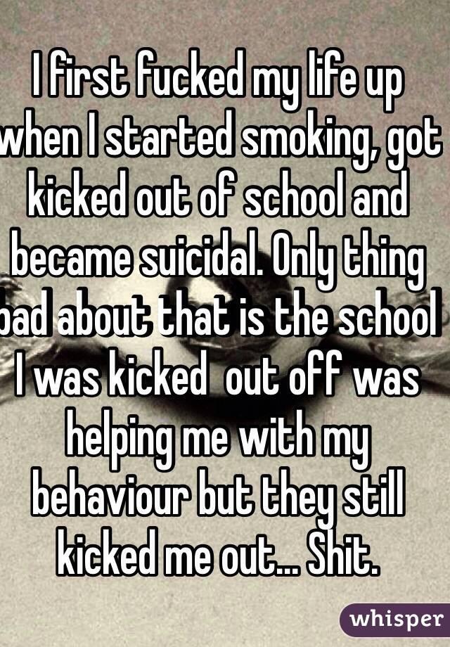 Fucked shit kicked