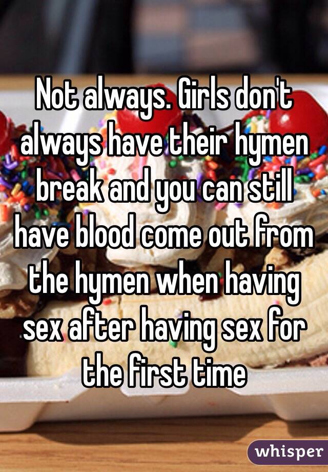 Bloody first time having sex