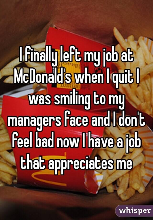 How to quit mcdonalds
