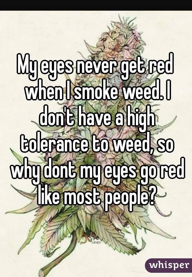 People High On Weed Eyes