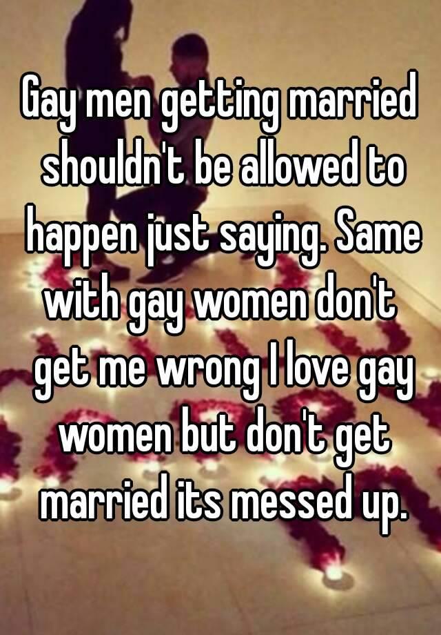 Why women shouldnt get married