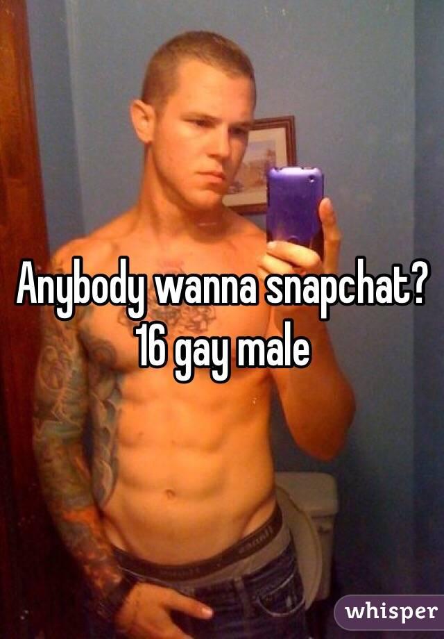 Gay male snapchat