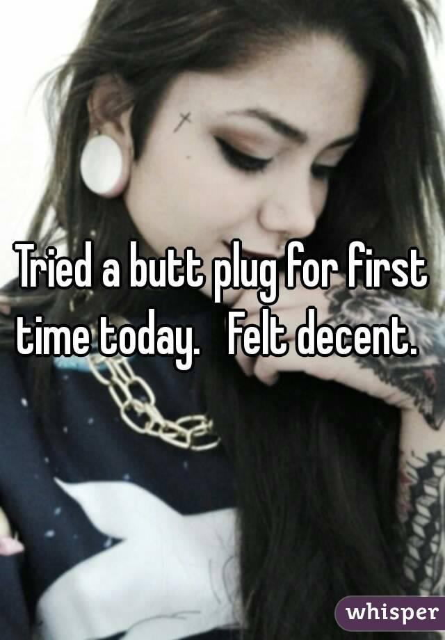 First butt plug