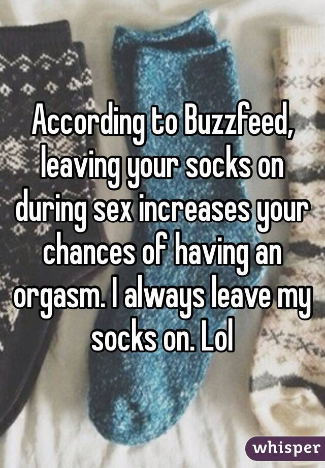 Sex with your socks on