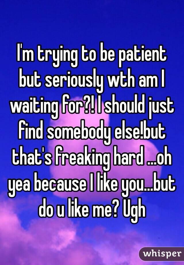 find somebody else like me