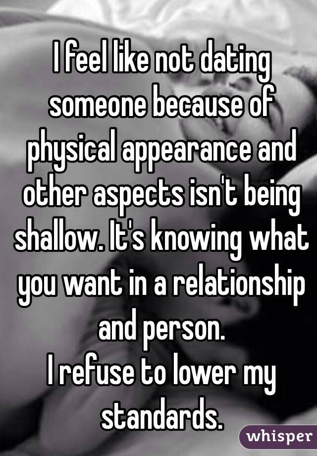 Being shallow in a relationship