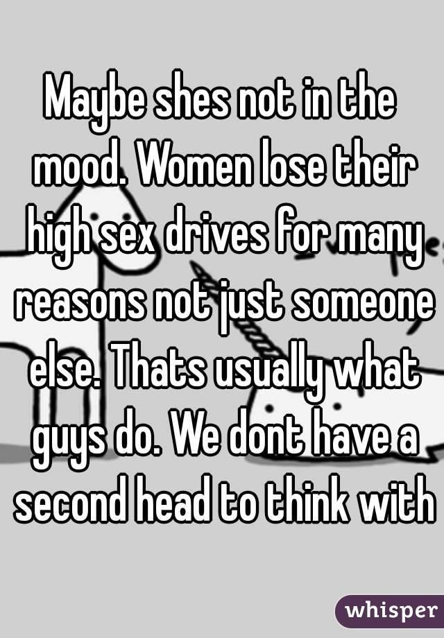 Women not in mood for sex