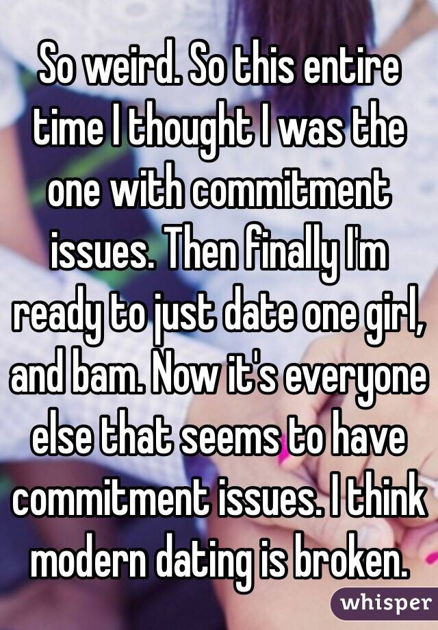 dating a girl with commitment issues