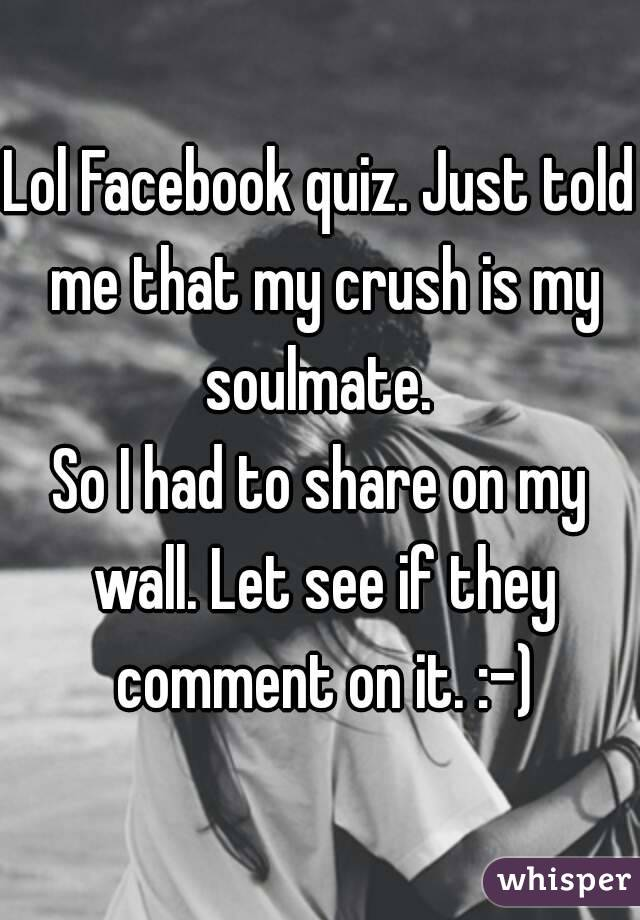Is my crush in love with me quiz