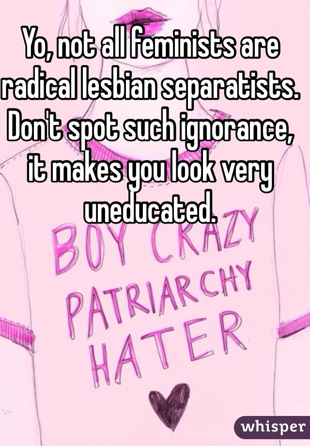 Dont be such a lesbian