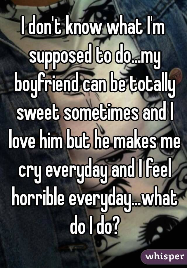 what is a boyfriend supposed to do