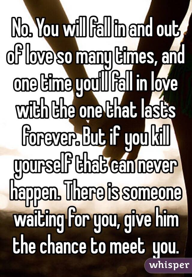 how many times a person can fall in love