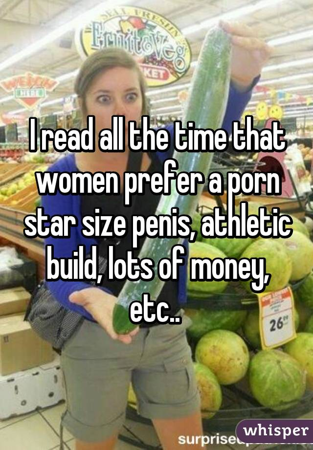 Penis size prefer women